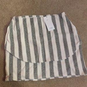 Tobi Stripped Mini Skirt Size Small
